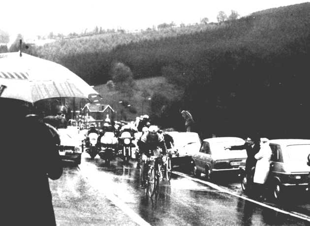 21 year old Hinault powers through the rain en route to winning his second classic in just five days.