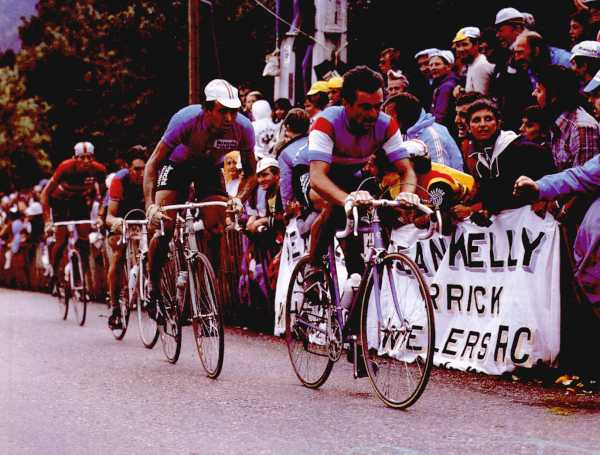 Hinault in action at Sallanches